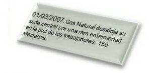 01/03/2007. Gas Natural desaloja su sede central por una rara enfermedad en la piel de los trabajadores. 150 afectados.