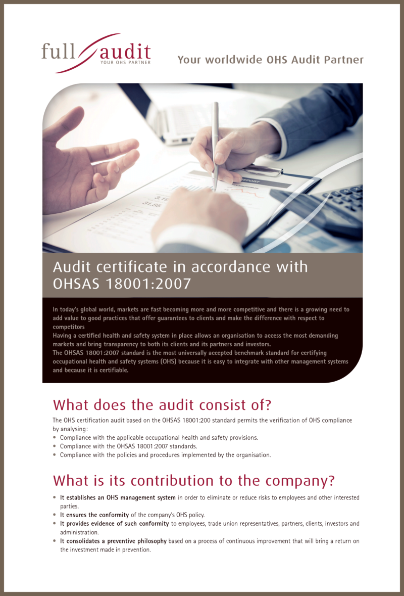 Certification Audit In Accordance With Iso 450012018 Fullaudit