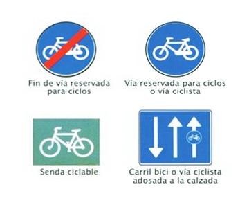 Señales de tráfico específicas para ciclistas