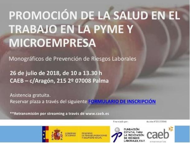 Promoción de la salud en el trabajo en la pyme y microempresa